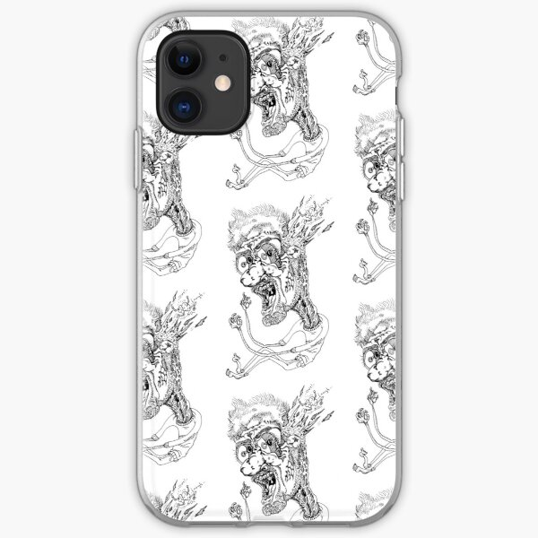 Brain Out Ink Graffiti Style Character iPhone Soft Case