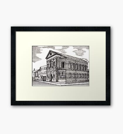 164 - CENTRAL METHODIST CHURCH, BLYTH - DAVE EDWARDS - INK - 1988 Framed Print