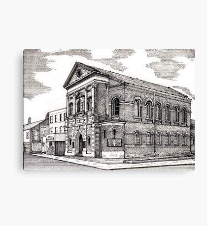 164 - CENTRAL METHODIST CHURCH, BLYTH - DAVE EDWARDS - INK - 1988 Canvas Print