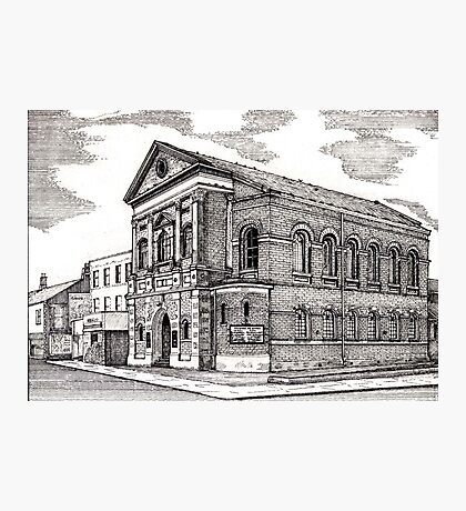 164 - CENTRAL METHODIST CHURCH, BLYTH - DAVE EDWARDS - INK - 1988 Photographic Print