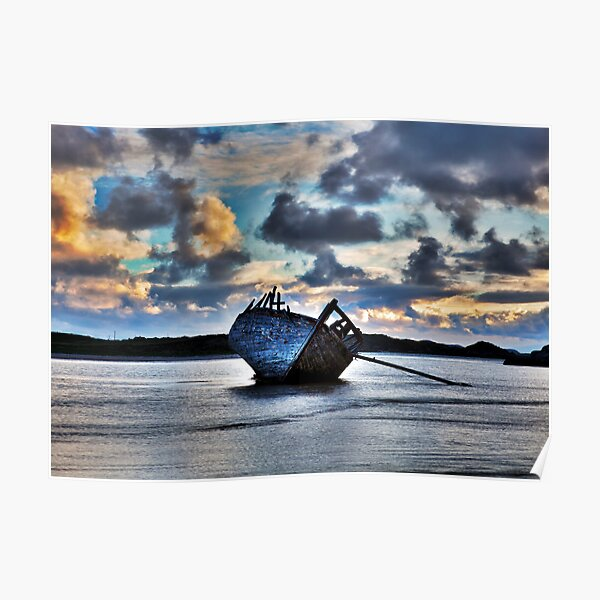 Donegal Shipwreck (Eddies boat) Poster