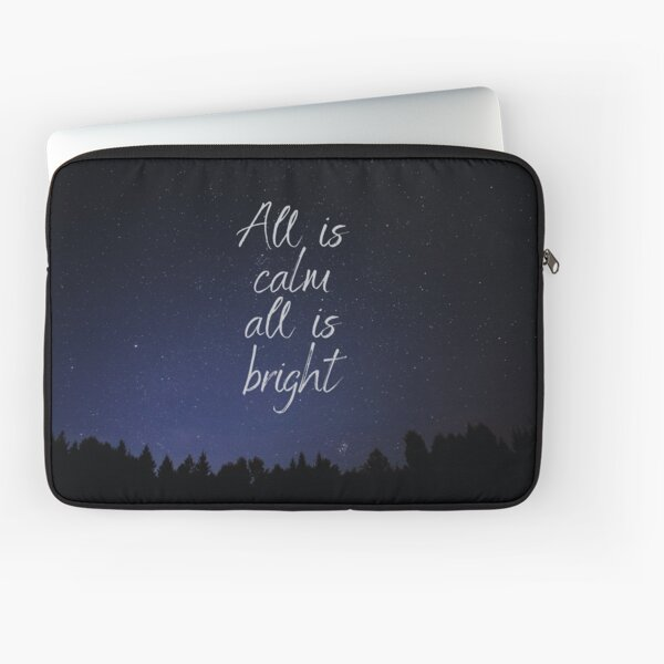 Silent Night, Christmas song lyrics Laptop Sleeve
