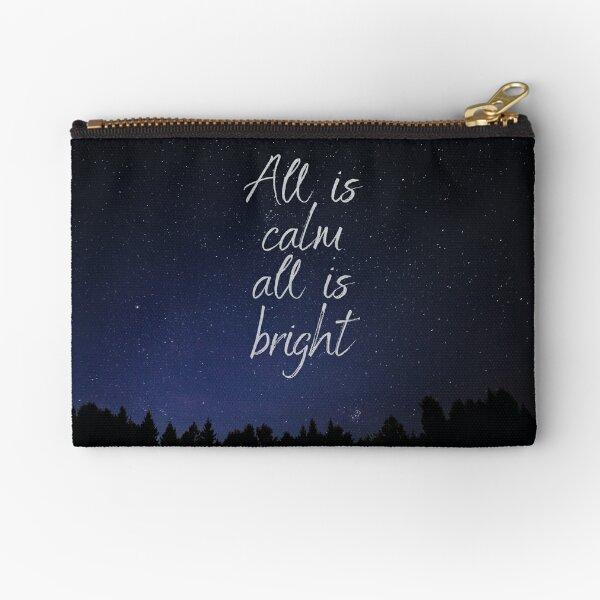 Silent Night, Christmas song lyrics Zipper Pouch