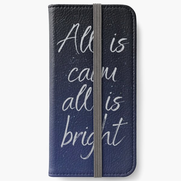 Silent Night, Christmas song lyrics iPhone Wallet