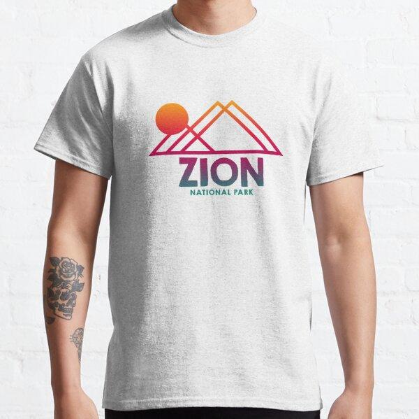 Zion National Park Utah UT Souvenirs Mtn Gradient Classic T-Shirt