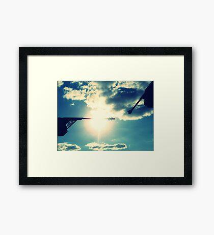 Lightning Rods Framed Print