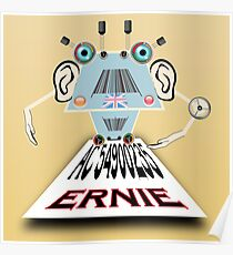 Ernie, Premium bonds computer Cartoon Poster