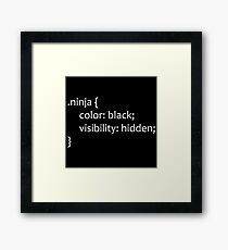 CSS Ninja Framed Print