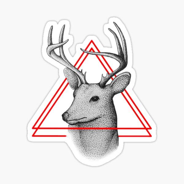 Deer Design - Stippling Stickers Sticker