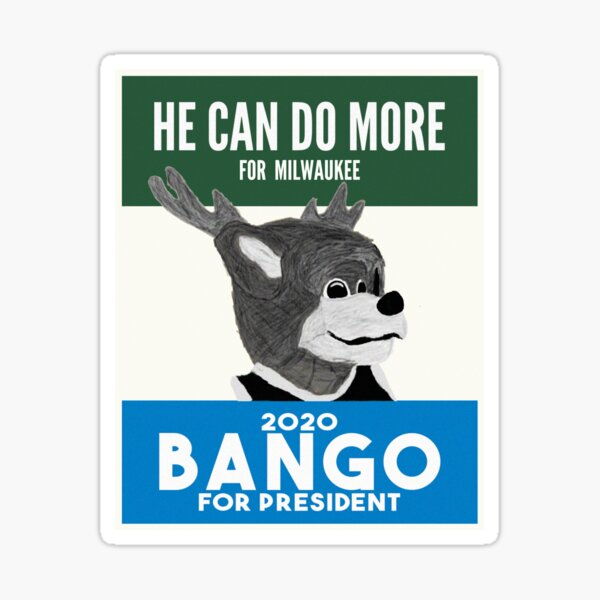 He Can Do More For Milwaukee Sticker