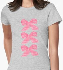 Pink Bows Womens Fitted T-Shirt