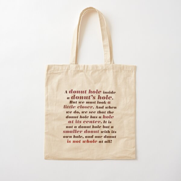Full Quote: A Donut Hole Within A Donut's Hole, Knives Out Cotton Tote Bag