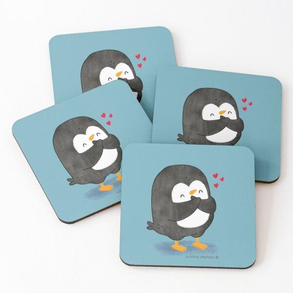 Penguin in Love 2 Coasters (Set of 4)