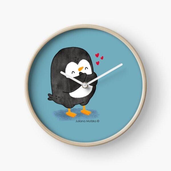 Penguin in Love 2 Clock