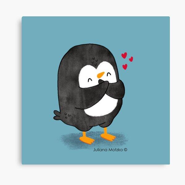 Penguin in Love 2 Canvas Print