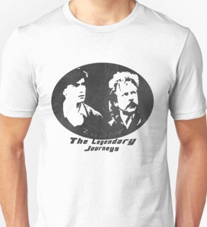 Rowsdower:  Zap And Troy the Legendary Journeys Tee (b&w version) T-Shirt