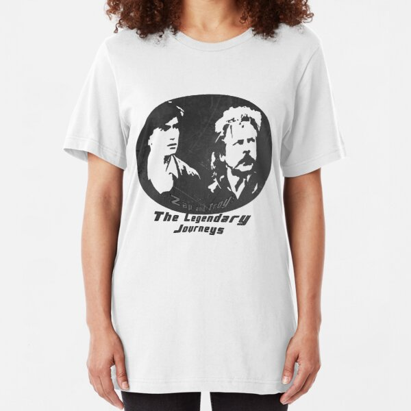 Rowsdower:  Zap And Troy the Legendary Journeys Tee (b&w version) Slim Fit T-Shirt
