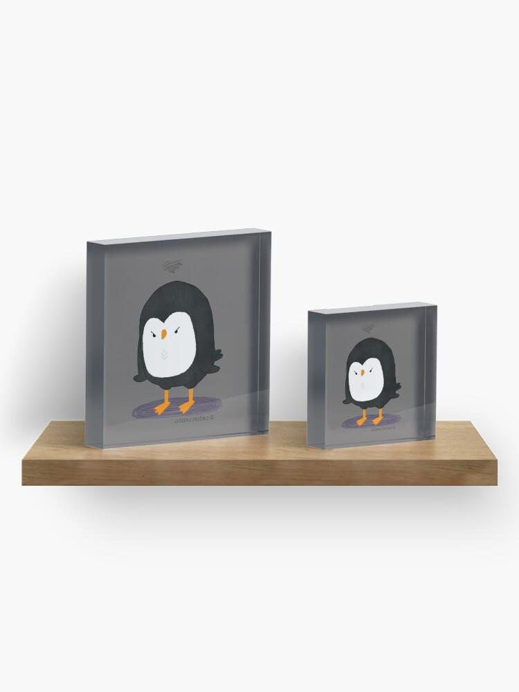 Alternate view of Grumpy Penguin 3 Acrylic Block
