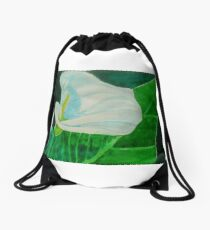 Calla Lily Drawstring Bag