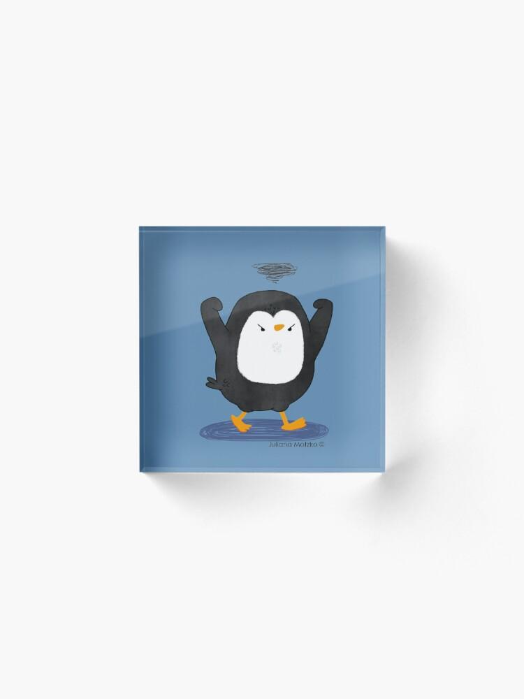Alternate view of Grumpy Penguin 4 Acrylic Block