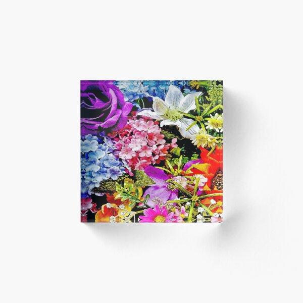 Summer Floral Mix 2 Acrylic Block