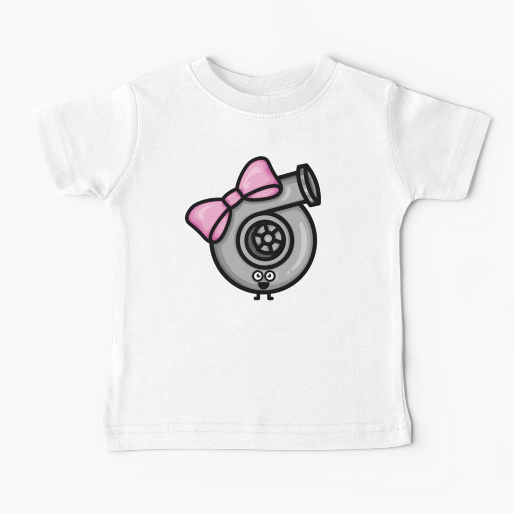 Cutest Turbo - Pink Bow Baby T-Shirt