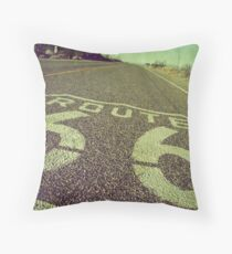 """America's Mother Road"" Throw Pillow"