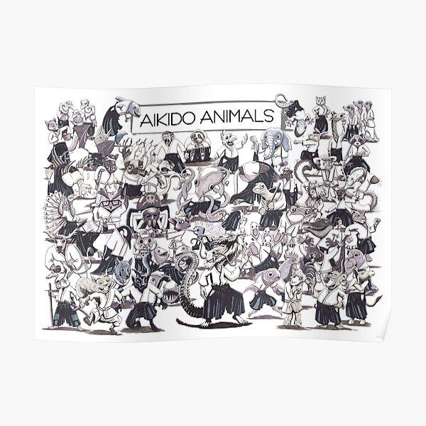 Aikido Animals Herde Poster