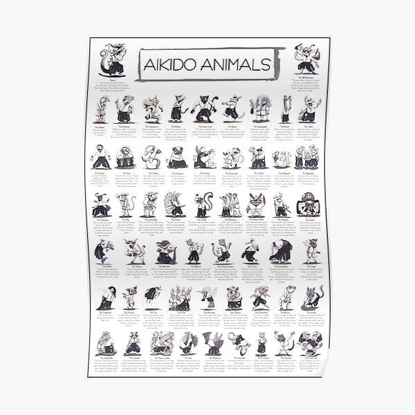 Aikido Animals Sammlung - nur für mittlere/große Poster geeignet! Poster