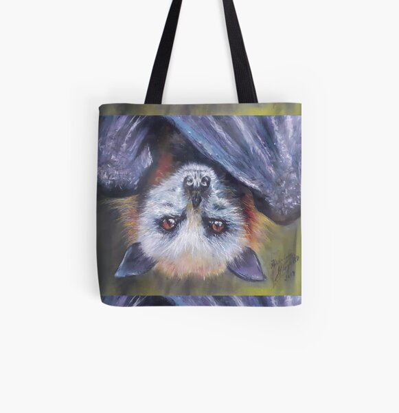 Batzilla - Serious Bat by Herminia Mesquita All Over Print Tote Bag