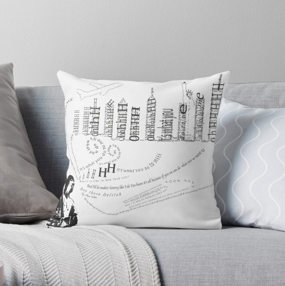 Hey There Delilah Throw Pillow By Kandrowis Redbubble