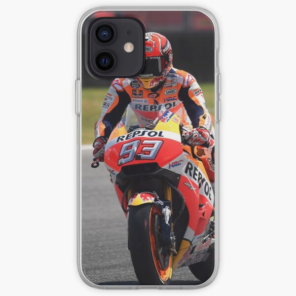 Marc Marquez - MotoGP Thailand 2019 au circuit international de Chang Buriram Coque souple iPhone