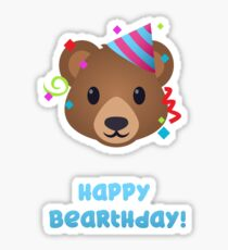 Happy Bearthday - bear emoji Sticker