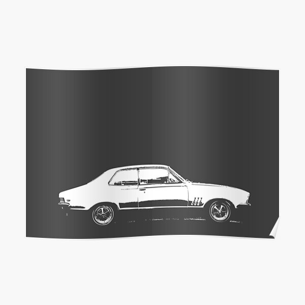 Holden LC GTR Torana - White Print Poster