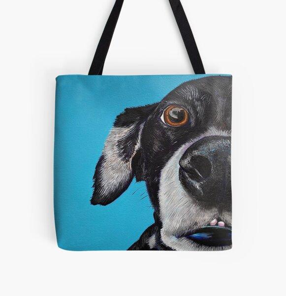 Dog Love Smiles All Over Print Tote Bag