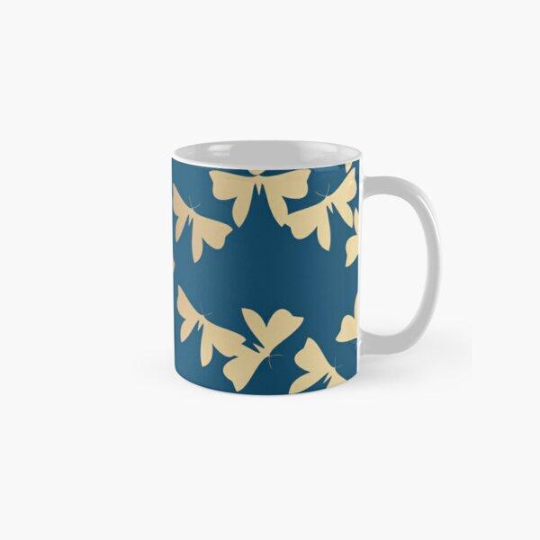 Moths - Gold on Blue Classic Mug