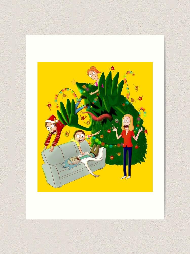 """""""Rick and Morty Christmas tree"""" Art Print by kuinif ..."""