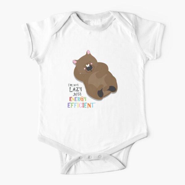Lazy wombat Short Sleeve Baby One-Piece