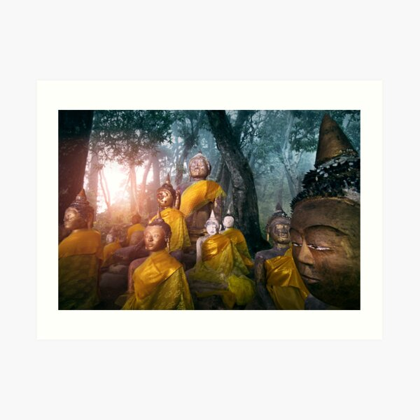 Valley of the Buddhas  Art Print