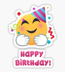 Happy Birthday - hug emoji Sticker
