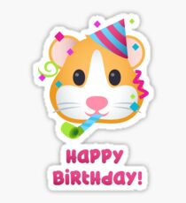 Happy Birthday - Hamster Emoji Sticker