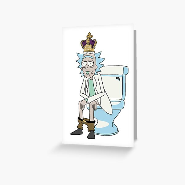 King of Sh*t Greeting Card