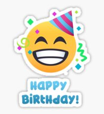 Happy Birthday - Cheesy Grin Emoji Sticker
