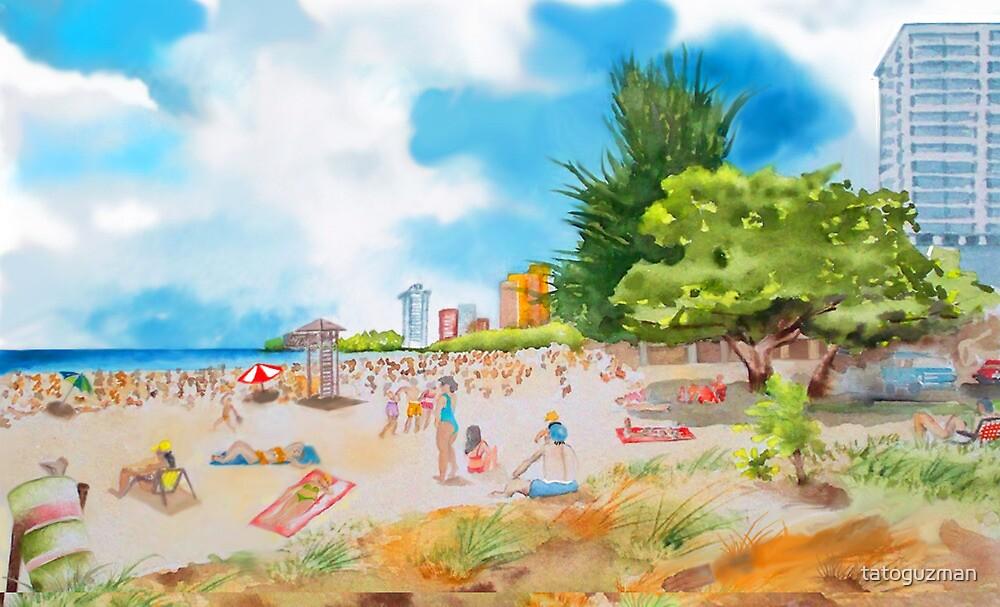 Alambique Beach, Isla Verde, P R  by tatoguzman