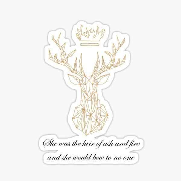 Terrasen golden stag Sticker