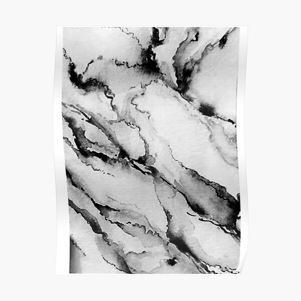 Pretty Marble Pattern in Watercolor Poster
