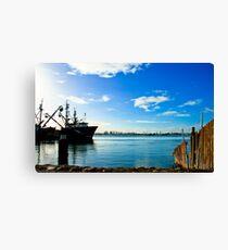Tauranga Wharf Canvas Print