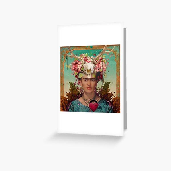 Frida Kahlo Tribute 02 Greeting Card