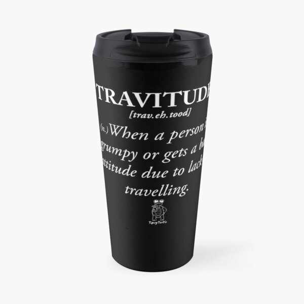 Travitude. TipsyTurtle (WEISSE BRIEFE) Thermobecher