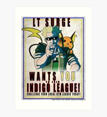 Lt. Surge Wants You! Art Print